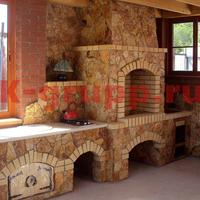 Облицовка барбекю природным камнем купить камин дровяной с подключением водяного отопления